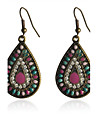 Drop Earrings Resin Silver Plated Drop Rainbow Jewelry Party Daily Casual 2pcs