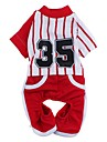 Cat / Dog Shirt / T-Shirt / Pants Red / Blue Summer Stripe / Letter & Number Wedding / Cosplay