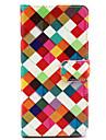 용 소니 케이스 / 엑스페리아Z3 지갑 / 카드 홀더 / 스탠드 / 플립 케이스 풀 바디 케이스 기하학 패턴 하드 인조 가죽 용 Sony Sony Xperia Z3 / Sony Xperia Z3 Compact / Sony Xperia M4 Aqua