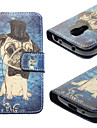 For Samsung Galaxy Case Card Holder / with Stand / Flip / Pattern Case Full Body Case Dog PU Leather Samsung S4 Mini