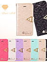 LEIERS®Vogue Weave Silk Leather Wallet Bling Shining Diamond Flip Card Slot Case Cover for iPhone 5/5S (Assorted Colors)