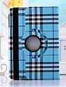 ecossais grille motif cuir pu 360⁰ cas / couvertures intelligentes pour ipad air 2