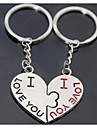 Heart Kiss Romantic Wedding Key Ring Keychain for Lover Valentine\'s Day(One Pair)
