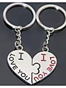 قبلة القلب زفاف رومانسي الرئيسي المفاتيح عصابة لحبيب يوم عيد الحب (زوج واحد)