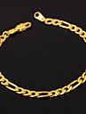 u7® высокое качество 18k золота заполнены Figaro браслет цепи для мужчин или женщин 4мм 19.5cm ювелирные изделия