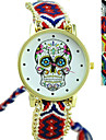 Fashion Exquisite Hand-weave Ethnic Style Skull Watches Cool Watches Unique Watches Strap Watch