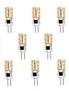 3W G4 LED Spot Lampen 24 SMD 2835 100-120 lm Warmes Weiss / Kuehles Weiss AC 220-240 V 10 Stueck