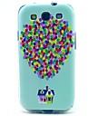 lille hus ballon TPU blød taske til Samsung Galaxy S3 i9300