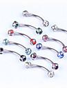 여성 눈썹 쥬얼리 / Labret, Lip Piercing Jewelry 크리스탈 / 스테인레스 보석류,1PC