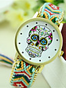 Women\'s New Fashion Ethnic Style Colorful Skull Woven Bracelet Watch Cool Watches Unique Watches