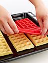 4 полость мини фантазии Bundt вафли кекса силиконовые формы выпечки формы (случайный цвет) 28,5 * 18,5 * 1,5 см