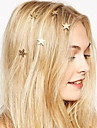 Fashion Europe Pentagram Spring Hairpin Hair Jewelry (1pc)