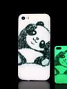 motif panda lueur dans l\'etui rigide noir pour iphone 5 / iphone 5 s