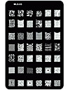Nail Art Stamping/Stamper Image Template Plate Nail Stencils/Molds for Acrylic Nail Tips MLS Series NO.3
