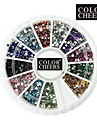 2000pcs 12-Color 1,5 mm Pyöreä Diamond Nail Art Koristeet