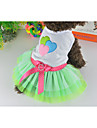Dog / Cat Dress Green Summer Hearts / Bowknot