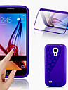 d grande toque vista TPU&tampa articulada de silicone para Samsung Galaxy S4 mini-i9190 (cores sortidas)