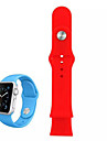 Sport Watch Band for Apple Watch 38MM Silicone Bracelet Wrist Strap Band