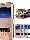 Pour Samsung Galaxy Coque Avec Support Avec Ouverture Clapet Coque Coque Integrale Coque Couleur Pleine Cuir PU pour Samsung S5
