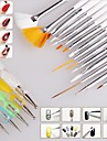 15pcs ongle art peinture de conception stylo dessin Brush Set avec 5pcs 2-way outil plume qui parsement