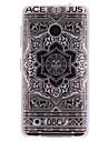 grande TPU de conception de fleur noire imd couverture souple pour nokia lumia N530