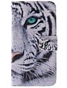 Pour Samsung Galaxy Coque Porte Carte Avec Support Clapet Motif Magnétique Coque Coque Intégrale Coque Animal Cuir PU pour Samsung A3