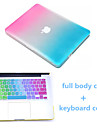 High Quality Rainbow Full Body Case and TPU Keyboard Cover for Macbook Air 11.6 inch