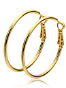 Women\'s Hoop Earrings Costume Jewelry Gold Circle Jewelry For