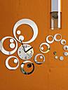 Moderne/Contemporain Famille Horloge murale,Rond Autres 16.5*16.5*0.2 Interieur Horloge