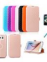 Pour Samsung Galaxy Coque Porte Carte Avec Support Clapet Relief Coque Coque Integrale Coque Forme Geometrique Cuir PU pour Samsung S6