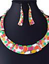 링 귀걸이 스테이트먼트 쥬얼리 패션 귀여운 스타일 의상 보석 Circle Shape 귀걸이 목걸이 제품 파티 결혼 선물