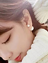 Fashion Pearl Earrings Pearl Earrings The Size Of The Front And Rear Double-Sided