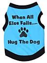 고양이 / 개 티셔츠 그린 / 블루 / 핑크 / 그레이 강아지 의류 여름 문자와 숫자 코스프레