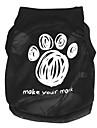 Коты Собаки Футболка Зеленый Синий Черный Розовый Розоватый Одежда для собак Лето Весна/осень Буквы и цифры Милые На каждый день