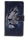 Para Samsung Galaxy Capinhas Carteira / Porta-Cartao / Com Suporte / Flip Capinha Corpo Inteiro Capinha Animal Couro PU Samsung S4