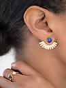 European Style Fashion Simple Sector Shaped Gem Earrings Earpins