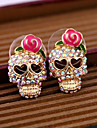 Earring Skull Stud Earrings Jewelry Women Daily / Casual Alloy 2pcs Gold