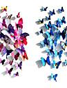 3d увлекательные моделирование бабочка пвх художественные наклейки (разные цвета) (12 шт)