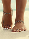 Women\'s Body Jewelry Anklet Barefoot Sandals Alloy Unique Design Fashion Simple Style Drop Jewelry Silver JewelryDaily Casual Christmas