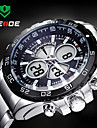 WEIDE Men Sporty Analog Digital Watch Stainless Steel Stopwatch/Alarm/Backlight/Waterproof Wrist Watch Cool Watch Unique Watch