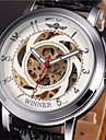 WINNER® Men\'s Auto-Mechanical Skeleton Watch PU Leather Band Wrist Watch Cool Watch Unique Watch Fashion Watch