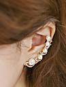 Ear Cuffs Pearl Imitation Pearl Cubic Zirconia Alloy Fashion Gold Jewelry 2pcs