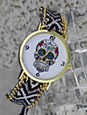 Bohemian Style Women'S Fashion Watches Skull Pattern Hand-Woven Watches Students Watch Cool Watches Unique Watches