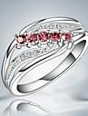 Классические кольца Стерлинговое серебро Циркон Цирконий Мода Заявление ювелирные изделия Розовый Бижутерия Для вечеринок 1шт
