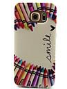 Crayon Love Pattern TPU Painted Soft Back Cover for GALAXY S6/S6 edge S5/S5Mini S4/S4Mini S3/S3Mini