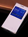 Para Samsung Galaxy Capinhas com Visor / Hibernacao/Ligar Automatico / Flip Capinha Corpo Inteiro Capinha Cor Unica Couro PU SamsungCore