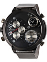 JUBAOLI® Men's Military Design Fashion Silver Steel Band Quartz Wrist Watch Cool Watch Unique Watch