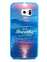 Sea Pattern Transparent PC and TPU Combo Phone Case for Samsung Galaxy S6/S5/S4/S3/S6edge
