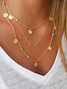 Women\'s Pendant Necklaces Alloy Simulated Diamond Turquoise Jewelry Party Daily Casual 1pc