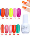 Sequins UV Color Gel Nail Polish No.13-24 (5ml, Assorted Colors)
